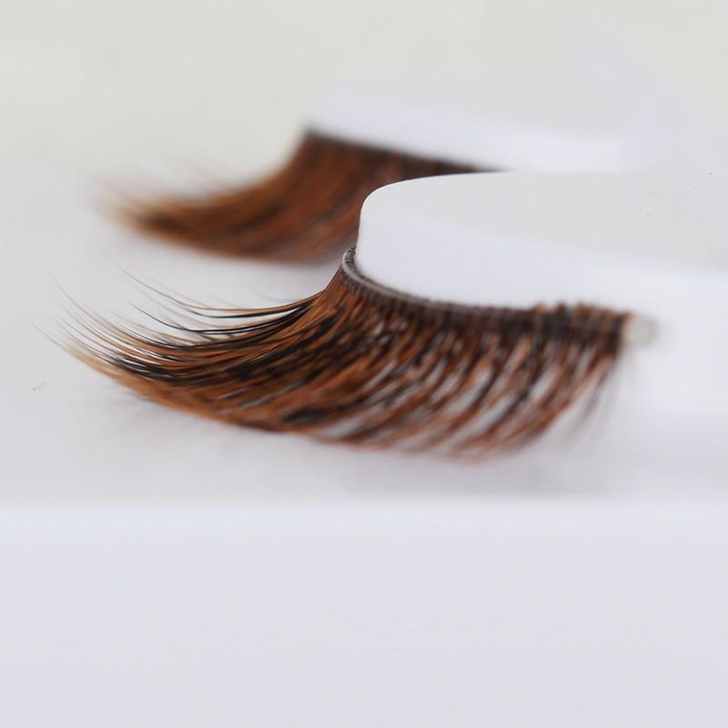 73d68b25520 3 Pairs Fashion Woman 3D Long Bushy Handmade False Eyelashes Natural High  end Makeup Beauty Tool coffee colour fake lashes-in False Eyelashes from  Beauty ...