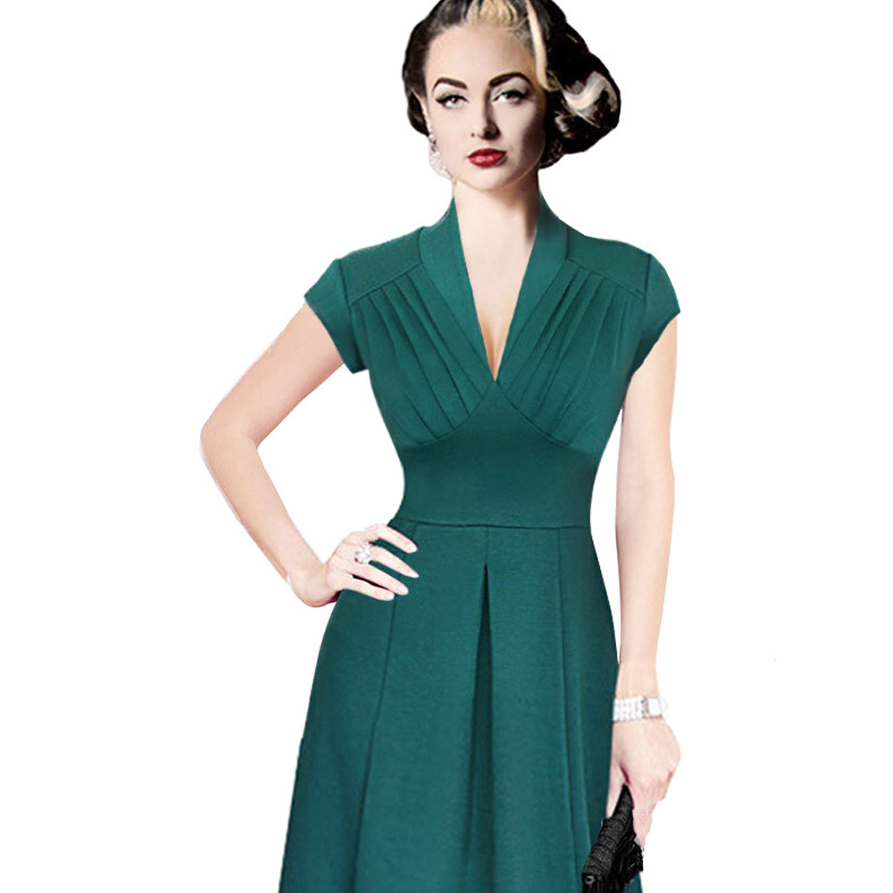 Free Shipping Sexy Lady A Line Dress V Neck Party Elegant Dress ...