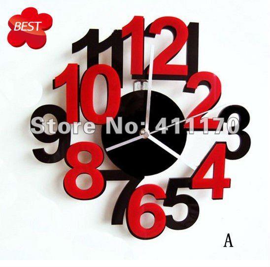 creative home decor diy digital personalized art wall clock clocks