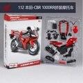 Maisto 1:12 hd cbr 1000rr red línea de montaje diy diecast modelo de la motocicleta
