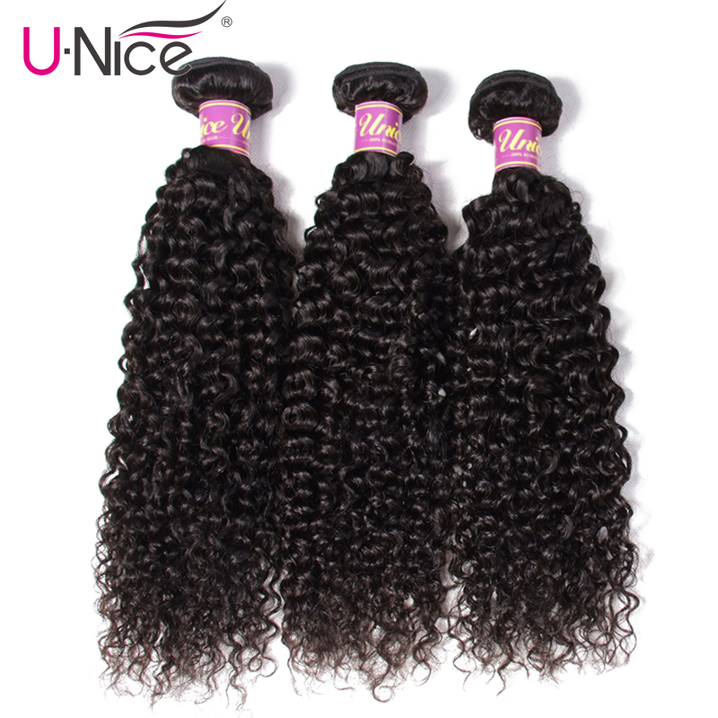 Image 3 - UNice Hair Icenu Series Remy Hair 100% Curly Weave Human Hair 8 26 Inch Brazilian Hair Weave Bundles Natural Color  1 Piece-in Hair Weaves from Hair Extensions & Wigs