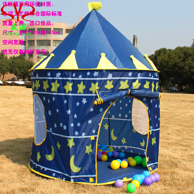toy tent hot big pink and blue castle toy tent house children toy tent play tents & toy tent hot big pink and blue castle toy tent house children toy ...