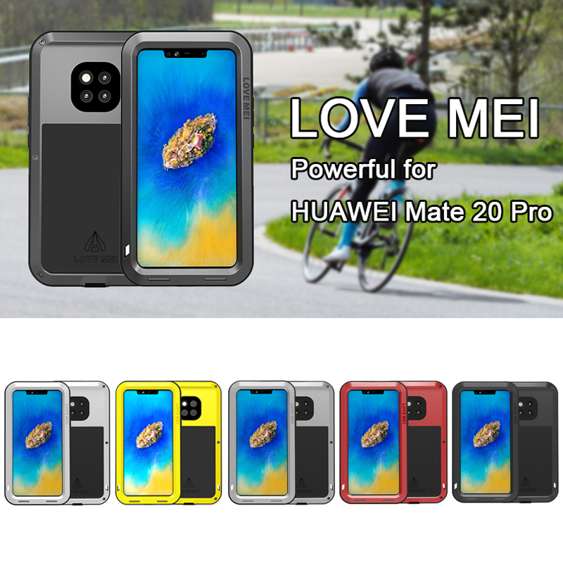 Original LOVE MEI Aluminum Metal Case for mate 20 pro / mate 20 Cover Armor Shockproof Life Waterproof Case mate 20 Capa FundasOriginal LOVE MEI Aluminum Metal Case for mate 20 pro / mate 20 Cover Armor Shockproof Life Waterproof Case mate 20 Capa Fundas