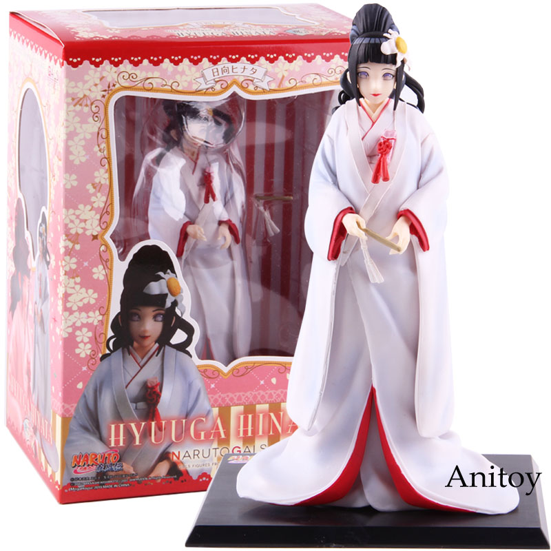 Naruto Shippuden NARUTO Gals Hinata Hyuga Wedding Ceremony Ver. PVC Hyuuga Hinata Action Figure Collectible Model Toy