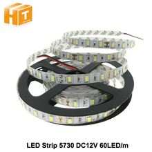 5730 SMD LED strip flexible light 12V Waterproof 60LED/m 5m/lot,New Chip Bright Than 5050,Super