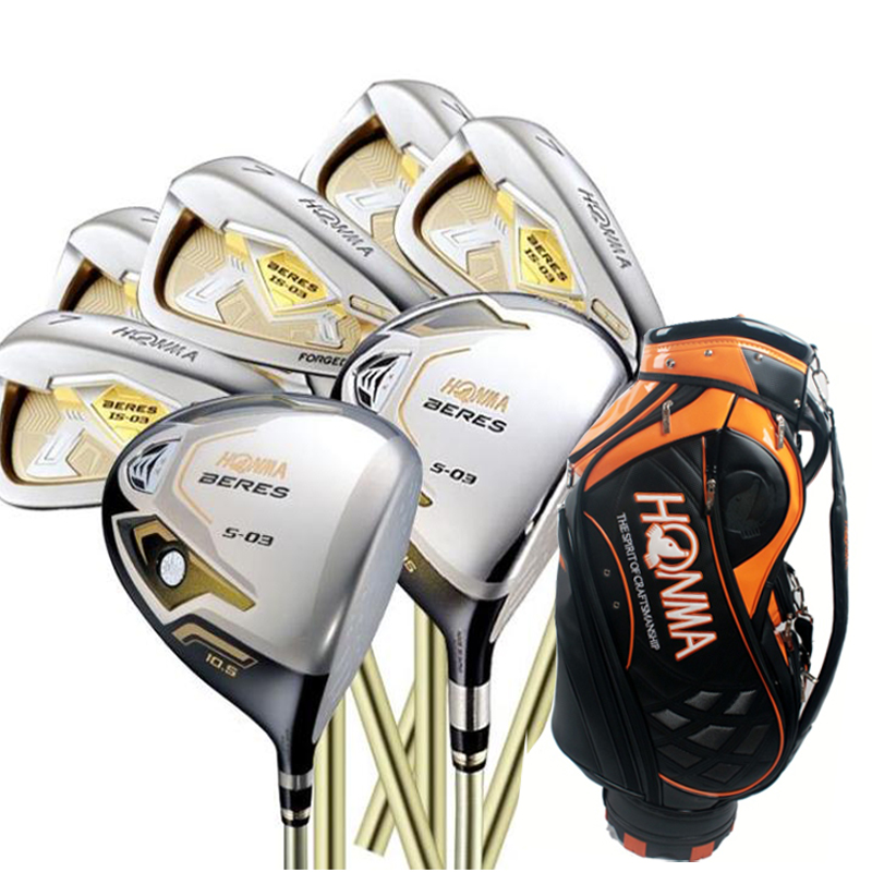 Подробнее о Cooyute New mens Golf clubs HONMA S-03 3star Compelete set Golf Driver+3/5wood+irons+bag Graphite Golf shaft free shipping cooyute new mens golf clubs honma is 02 5 star irons clubs set 4 11 aw sw golf irons with graphite golf shaft free shipping