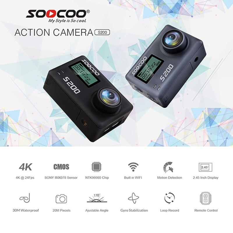 SOOCOO S200 Action Sport Caméra Ultra HD 4 K 20MP NTK96660 Puce Cam IMX078 Capteur WiFi Gyro Contrôle Vocal Micro GPS Tactile Écran LCD - 2