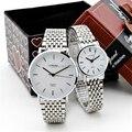 Relogios masculino 2016 de moda de nova assista homens cheios de relógio de aço inoxidável analógico relógio de quartzo-ladeis montre homme relógio casal