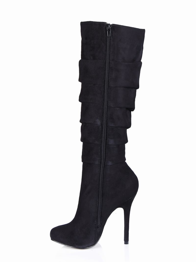 Chaussures Mujer Femme Zapatillas Talons Genou Robe Boots D'hiver Mode Sexy Femmes Black Women Dames Botas 2017 Club Zapatos Haute Bottes Parti 1xwqtSwT