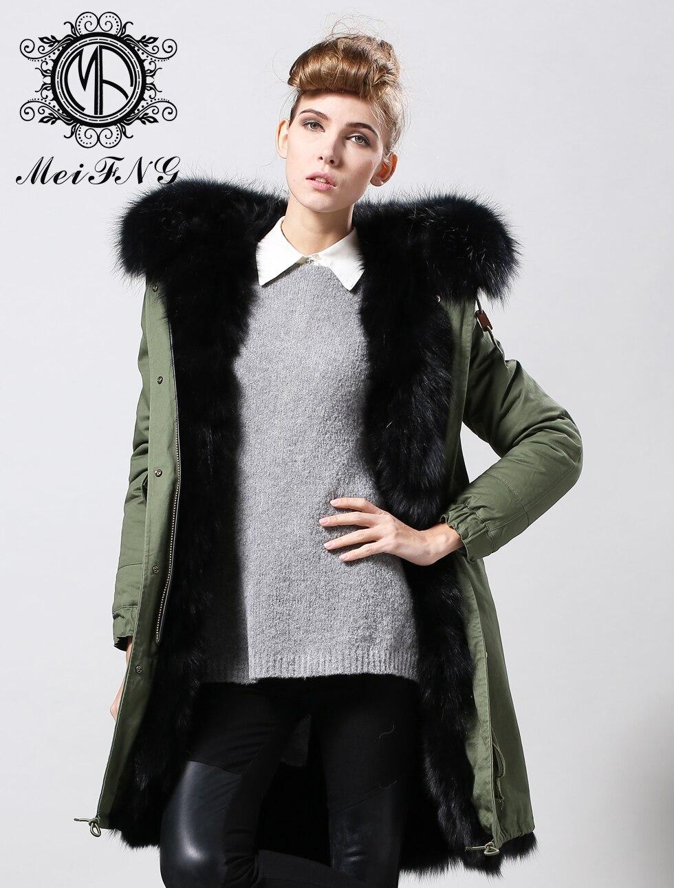 Модная зимняя парка с натуральным лисьим пальто с мехом в черный цвет меха, зеленый/темно синий/черный/желтый парка для мужчины или женщины