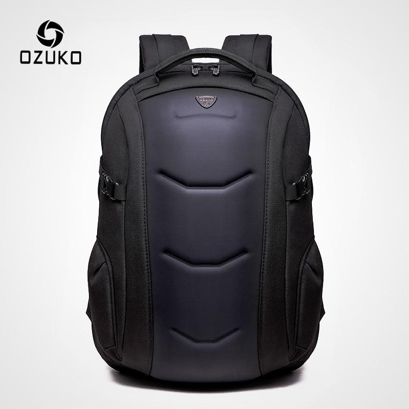 OZUKO Brand Waterproof Oxford Backpack for Teenager 15 6 inch Laptop Backpacks Male Fashion Schoolbag Men