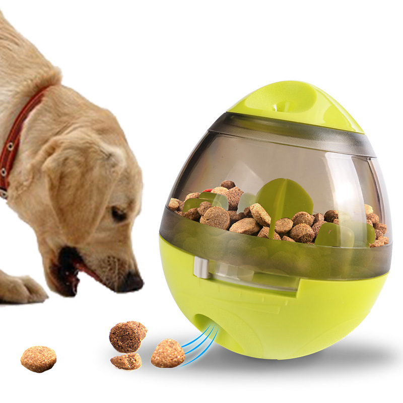 Funny Pet Cat Dog Toy Tumbler Leakage Feeder Food Container Anti-depression Pets IQ Training Ball Toys For Dogs Cats