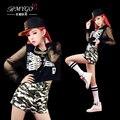 2014 новый хип-хоп танцевальная одежда хип-хоп сцена Джаз Топ и брюки джаз танцевальные костюмы одежда женская DS custome