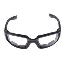 Gafas de montar para motocicleta, a prueba de viento, a prueba de polvo, acolchadas, cómodas, transparentes, gafas de PVC con espejo, protección UV400