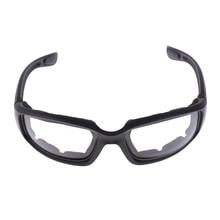 Moto Antivento Antipolvere Equitazione Occhiali Imbottito Confortevole IN PVC Trasparente Occhiali Da Sole A Specchio UV400 Lenti Occhiali di Protezione
