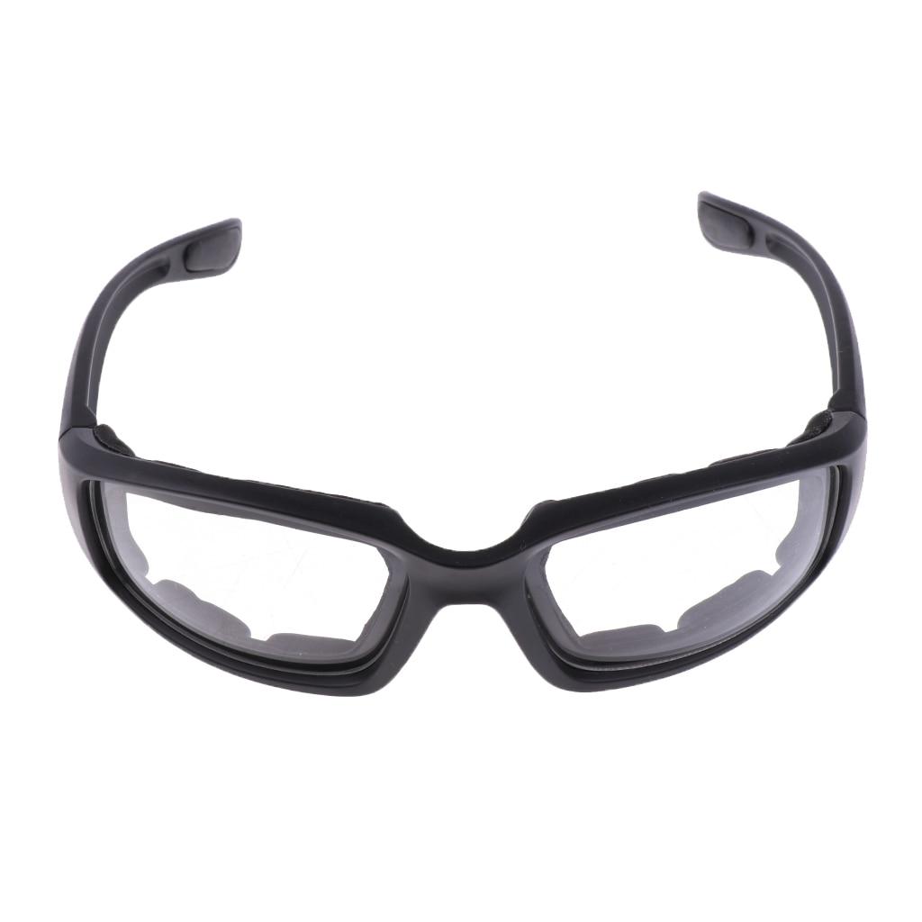 Motosiklet rüzgar geçirmez toz geçirmez sürme gözlük yastıklı rahat şeffaf PVC güneş gözlüğü ayna UV400 lensler koruyucu gözlük