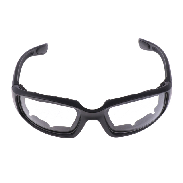 Motorcycle Windproof Dustproof Riding Glasses Padded Comfortable Clear PVC Sunglasses Mirror UV400 Lenses Protection Goggles