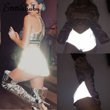 Fashion Women s Sexy Noctilucence Shiny Disco Club High Waisted Apparel Ladies Mini Shorts Hot