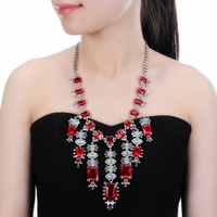 Bead Necklace Jewelry Crystal Women Long Necklace Pendants Rhinestone Chain Christmas Valentine S Gift