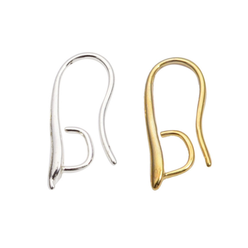 19mm Gold Plated High Quality Brass Ear Wire Hooks Earrings Findings ...