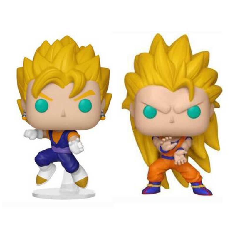 Anime Dragon Ball Z Super Saiyan Goku 3 492 & Vegito 491 Figura Da Boneca de Vinil Brinquedos