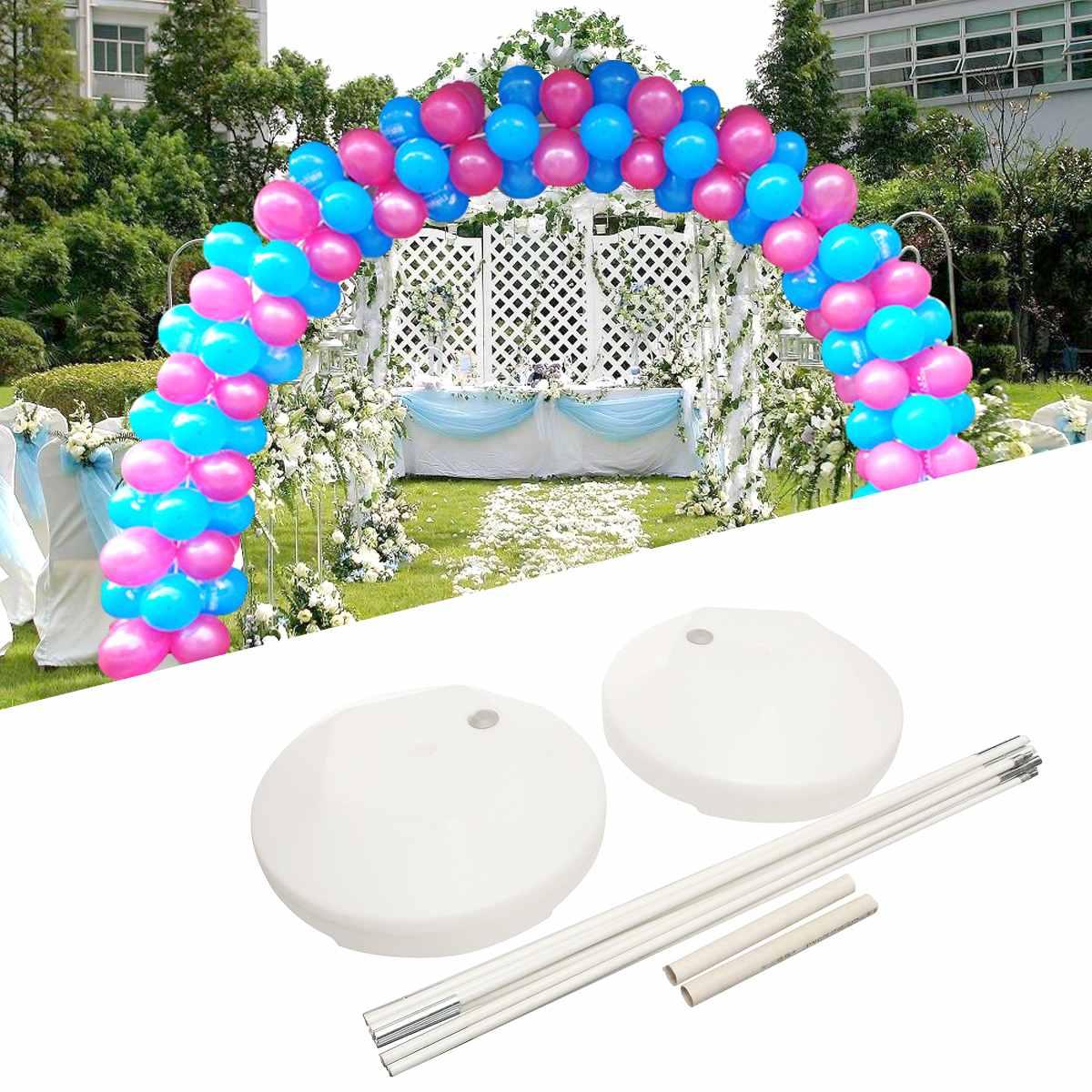 14 pièces arche en Ballons Kit de Fête D'anniversaire De Mariage Grand Ensemble Colonne arche en Ballons Cadre Ballons & Accessoires bricolage fournitures de décoration