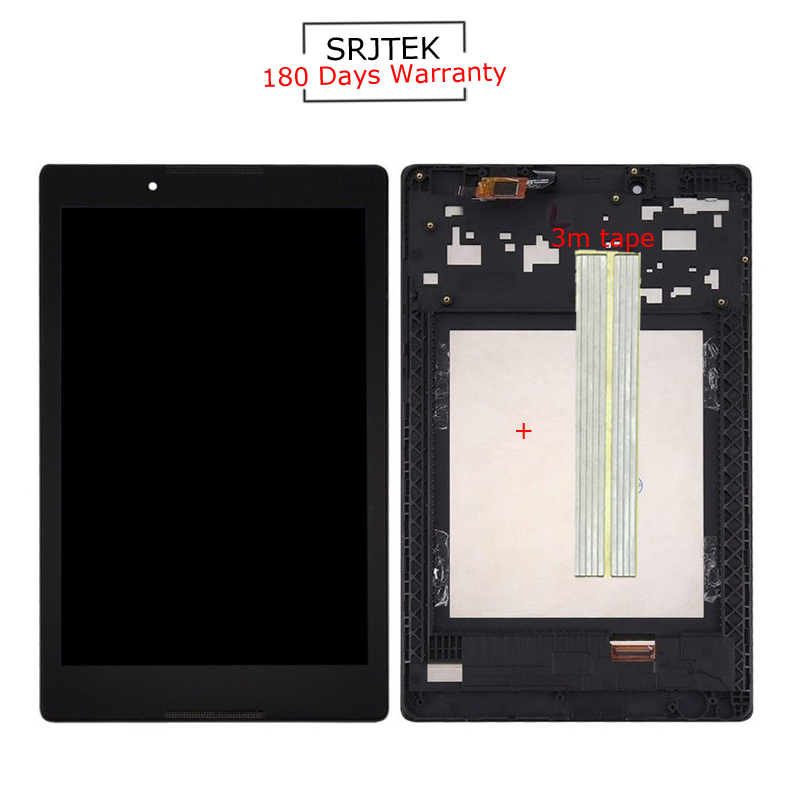 For New Lenovo Tab 2 A8-50 A8-50F A8-50LC Replacement LCD Display Touch Screen + Frame Assembly 8-inch Black texted black touch screen digitizer lcd display assembly for lenovo tab s8 50 s8 50f s8 50l s8 50lc free shipping