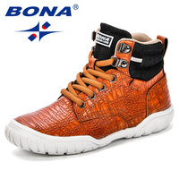 BONA 2018 Autumn New Arrival Mid Calf Boys Leisure Shoes Fashion Children Sport Shoes Outdoor Trendy Casual Sneakers For Girls