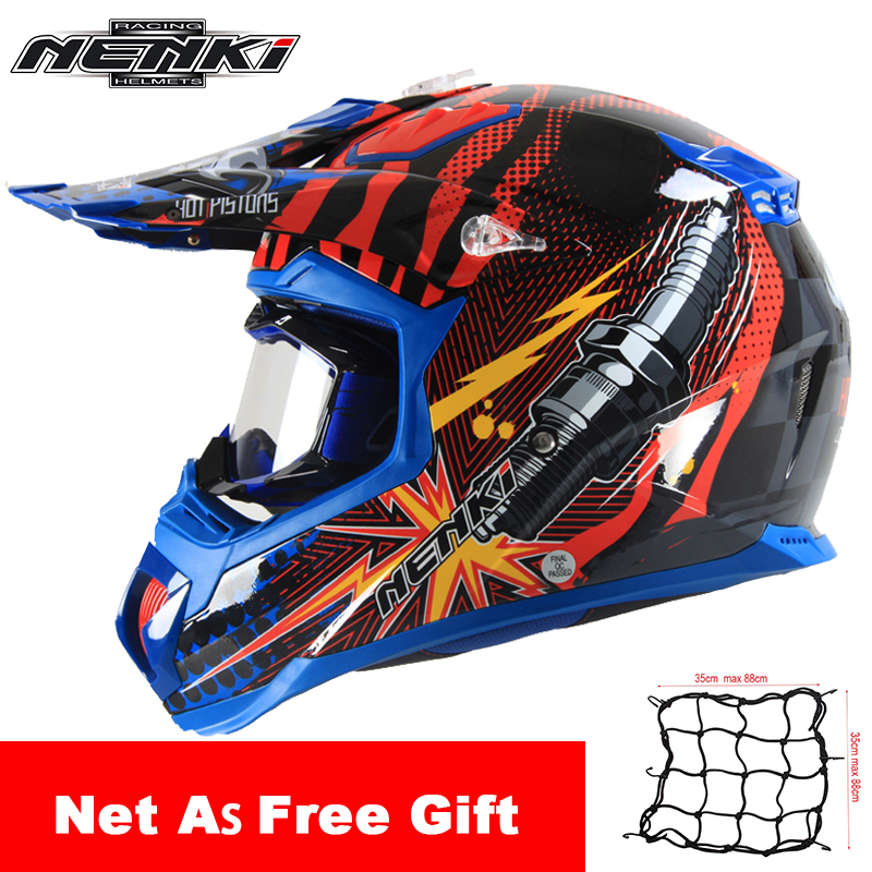 NENKI Motorcycle Helmet Motocross Off-Road Riding Full Face Moto Helmet Men Summer Motorcycle Racing Helmet with Goggles Set купить в Москве 2019