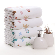 100%Cotton Printed Animal Deer Four Leaf Clover Thick Double Layer Fabric Towel Set Hand Soft