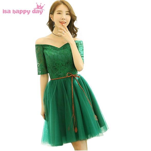 44711981f2 Elegante barato corto tul elegante corsé verde pageant balón vestido de  cóctel vestidos de fiesta para