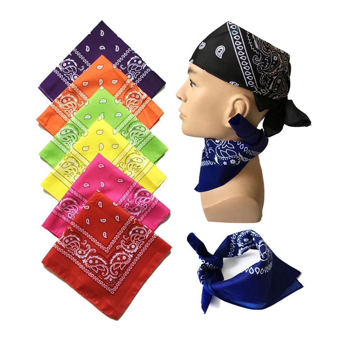 Charming Bike Scarves Unisex Riding Magic Headband Blend Hip-hop Head Cycle Neck Tube Paisley Printed Bandanas 55*55cm