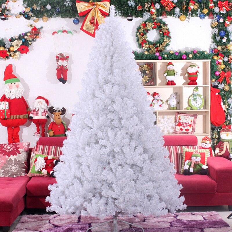 3.0 m 4.0 m grand haute qualité blanc arbre De Noël PVC matériaux respectueux de l'environnement en gros De Noël décoration