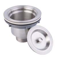 Hot Stainless Steel Kitchen Sink Drain Assembly Waste Strainer And Basket New