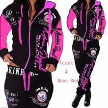 Brand 10 colors Women Sets Hoodies Pant Clothing 2PCS Set Warm New Ladies letter Tracksuit 2pcs Tops Pants Suit Female