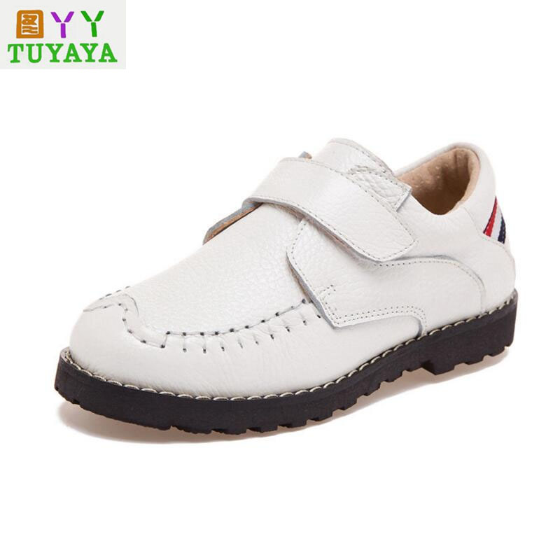 Baby Moccasins 2018 Spring Children Genuine Leather Shoes Black School Shoes for Girls Boys Dress Shoes Children Boys Sneakers