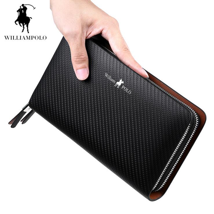 Williampolo Men's Wallet Genuine leather Men Hand bag Double zipper wallets Business Cowhide Coin purse floor style humidifier home mute air conditioning bedroom high capacity wetness creative air aromatherapy machine fog volume