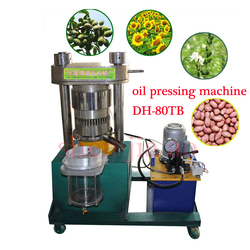 DH 80TB podnośnik hydrauliczny maszyna do produkcji oleju automatyczne olej elektryczny maszyna do prasowania nasiona sezamu oliwek oleju olej z orzeszków ziemnych i tak dalej w Tłocznie olejowe od AGD na