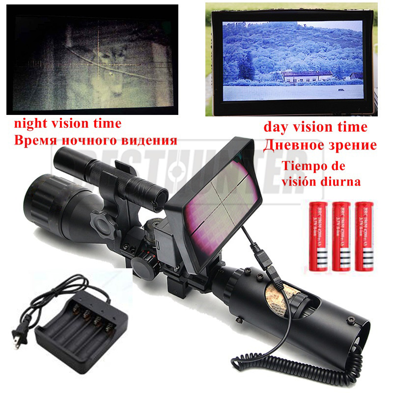 Night Vision Scopes For Hunting Sniper Scope Tactical Night Riflescope With Digital Infrared Monitor Air Rifle