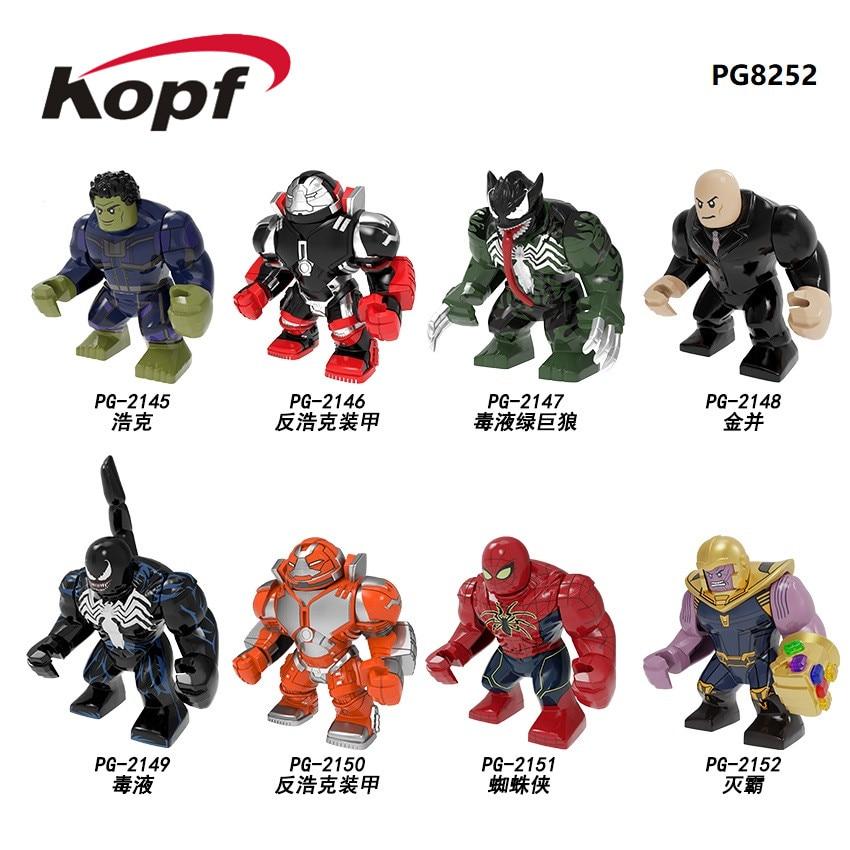 super heros grande taille caid hulk hulkbuster venom spider man thanos juggernaut figurines compatibles avec lego
