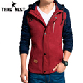 Top 2017 Popular Man's Hooded Jacket Slim Casual Patchwork Handsome Fashion Men Jacket Comfortable Fit Casual Men Coat MWJ1026