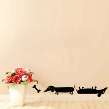 A Set Of Two Sausage Dogs Wall Stickers For Kids Rooms Dachshund Wall Decals Vinyl New Window Stickers