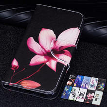 Lovely Panda Flip CASE For Xiaomi Redmi Note 7 6 Pro Printed PU Leather Card Wallet Stand Cover redmi note6 pro cute Lotus case