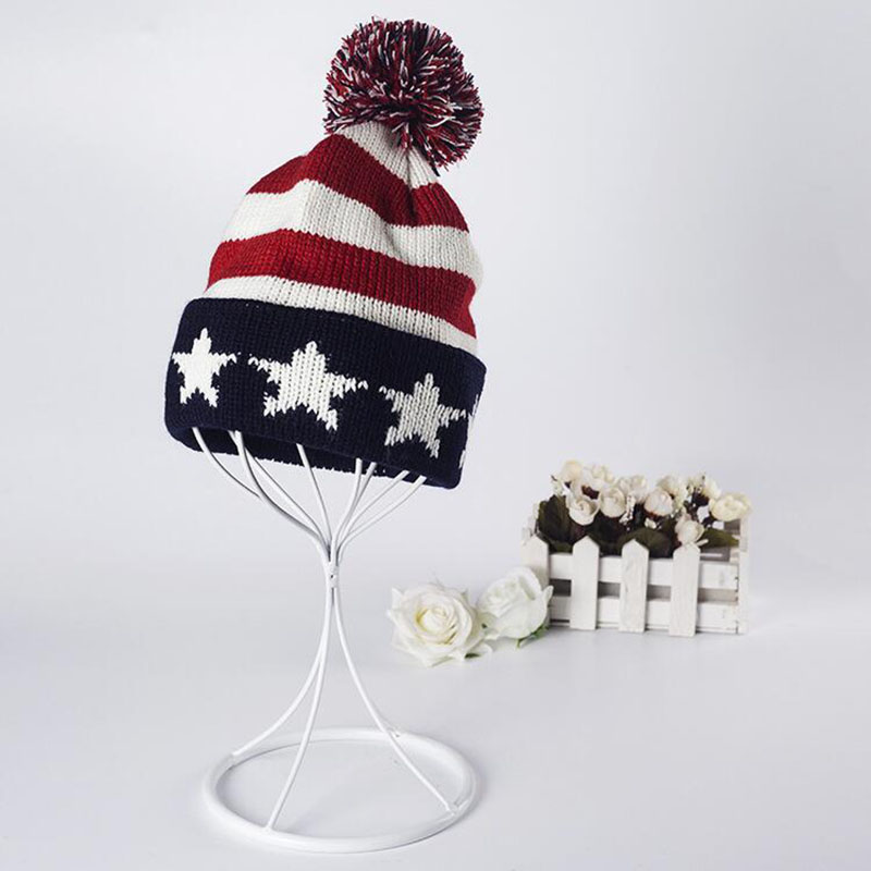 Winter Hat Women 2016 USA American Flag Beanie winter warm knitted caps hats for men Skullies Beanies gorros femme bonnet winter hat casual unsex knitted hats for men baggy beanie hat crochet slouchy oversized caps warm skullies toucas gorros
