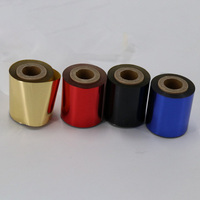 2 Rolls Rose Gold Hot Foil Stamping Paper Hot Pressing Transfer Anodized Gilded Paper Pink Gold Hot Foil 64mm x 100m