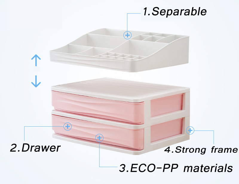 HTB1iKTEbh rK1RkHFqDq6yJAFXaz - JULY'S SONG Plastic Cosmetic Drawer Makeup Organizer Makeup Storage Box
