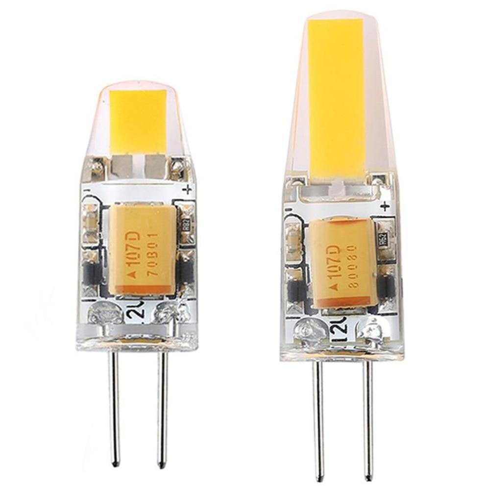 LAIMAIK 10PCS COB LED G4 Lamp Dimmable 3W 6W AC/DC12V LED G4 Bulbs Light Replace Halogen Crystal Chandelier Lights LED G4 Lamp