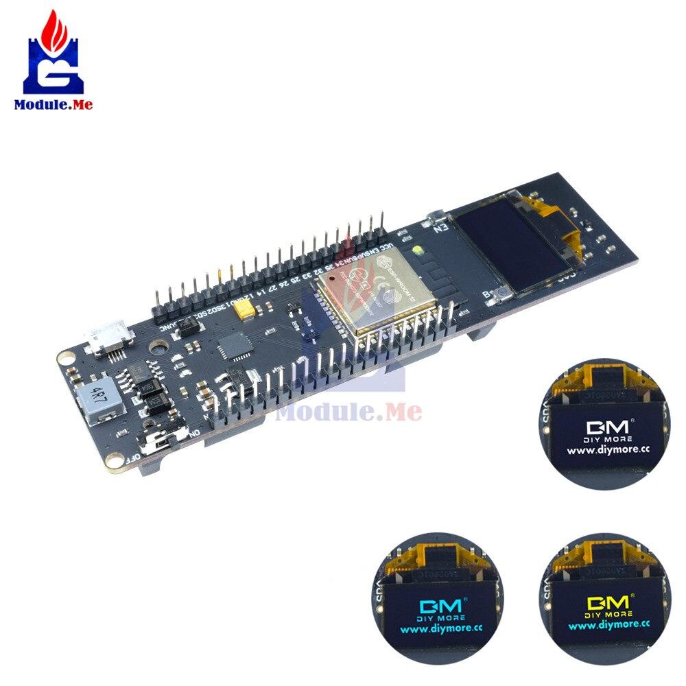 ESP-32 ESP32 ESP8266 0 96 Inch OLED Display 18650 Lithium Battery Wireless  WiFi Bluetooth Shield Development Board CP2102 Module