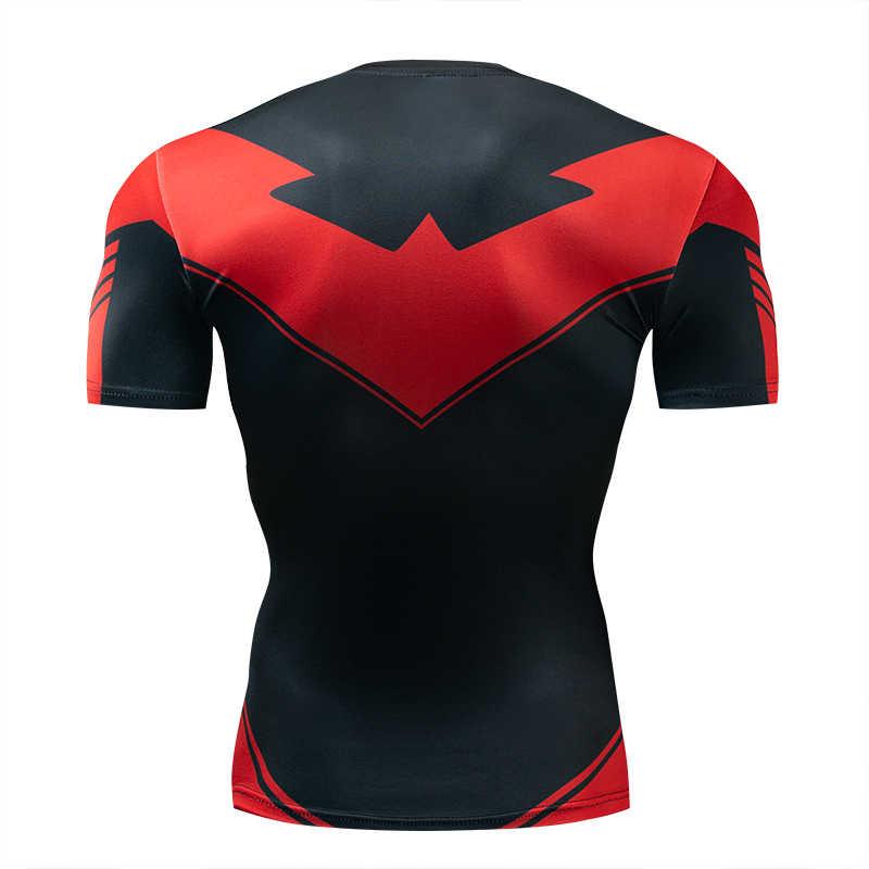 Новая летняя 3D железная Человек-паук футболка мужская Marvel Мстители Мужская Футболка компрессионная для кроссфита с коротким рукавом брендовая футболка Топы И Футболки
