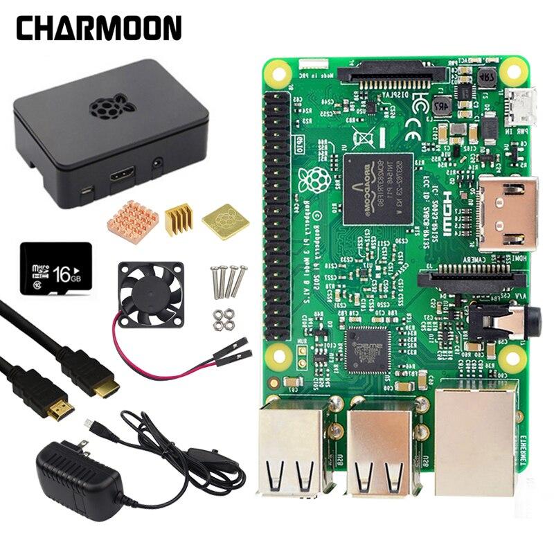 Raspberry Pi 3 Modèle B kit 5V2. 5A alimentation avec Interrupteur + 16g SD carte + ABS Cas + Ventilateur De Refroidissement + Dissipateur de Chaleur + HDMI Câble + 5MP caméra